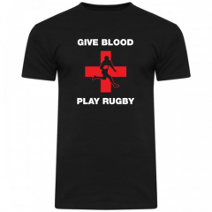 Give Blood Play Rugby T-Shirt