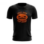 Halloween Black Rugby T-Shirt